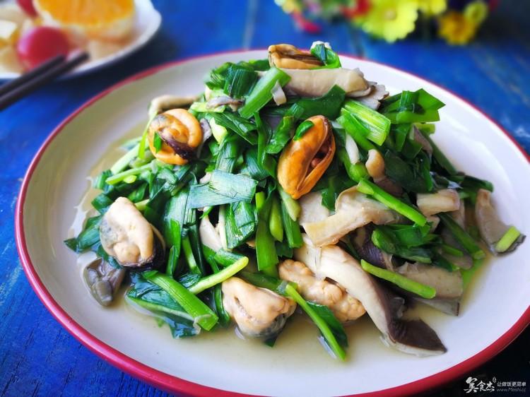 鲜上鲜,海虹美食炒美食-菜谱杰-蘑菇,韭菜-辛集中国二院驴肉火烧图片