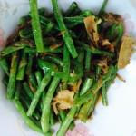 爱你宝贝2636梅干菜炒豇豆的做法