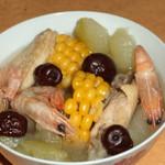 杰米田园冬瓜玉米排骨汤的做法