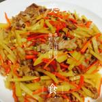 ayaka 美嫻胡萝卜土豆肉丝的做法