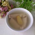 甜盐蜜语白果腐竹猪肚汤的做法