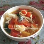 武Lei西红柿鸡蛋汤面的做法