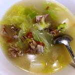 静默成诗白菜豆腐鸭架汤的做法