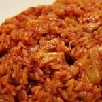 杰米4522320辣白菜炒饭的做法