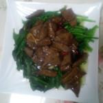 啊,呀!(来自微信.)蚝油猪肝菠菜的做法