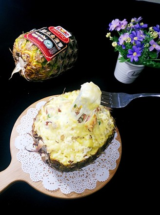 椰香菠萝海鲜焗饭的做法