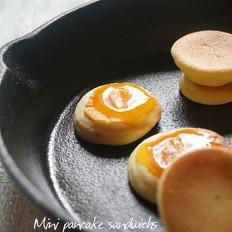 迷你厚煎松饼(无泡打粉,打发蛋白法)