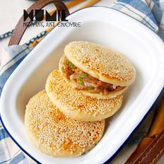 老北京烧饼夹烤肉