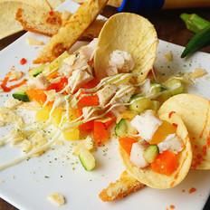 鲟龙鱼土豆沙拉