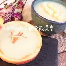 宝宝辅食:山药小米苹果糊