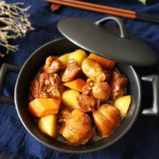 土豆胡萝卜焖鸡块