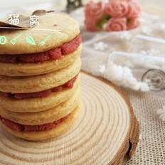 草莓奶油夹心饼干