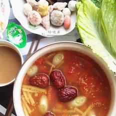 番茄杂蔬火锅