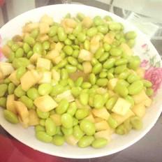 茭白炒毛豆