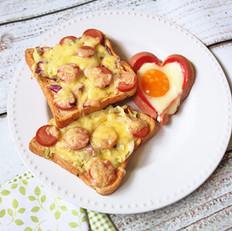 吐司披萨爱心煎蛋