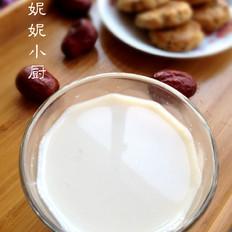红枣花生豆浆