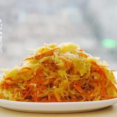 丝瓜炒胡萝卜丝