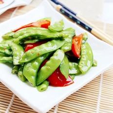 红椒炒扁豆