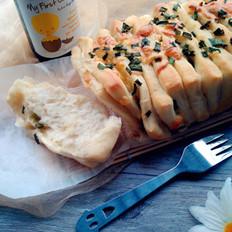手撕香葱面包