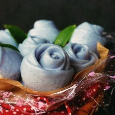 蓝玫瑰馒头