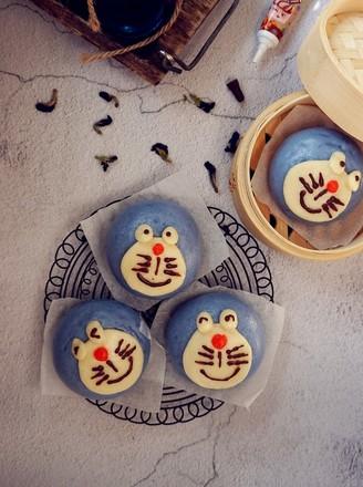 哆啦A梦馒头#早餐#的做法
