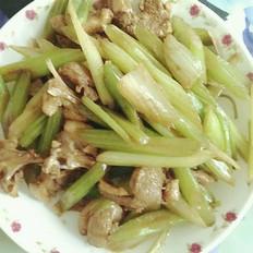 芹菜炒鸭肉