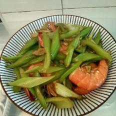 芹菜炒大虾