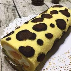 豹纹芒果蛋糕卷