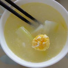 咸蛋节瓜汤