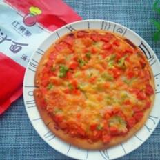 番茄芝士披薩