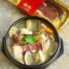 火腿鲜贝豆腐汤