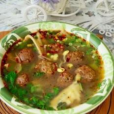 绿豆面丸子汤