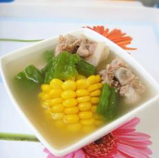 苦瓜甜玉米煲猪尾骨汤