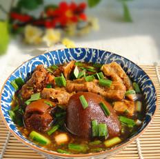 红汤羊肉汆油条子
