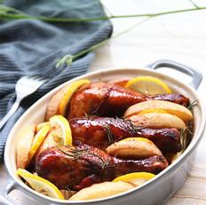 柠香苹果烤鸡腿