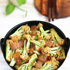 咸肉花菜干锅