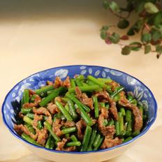 蒜苔炒牛肉丝的做法大全