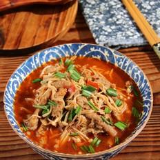 红油金针菇肥牛片