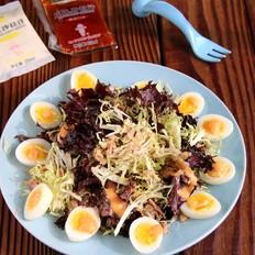 金枪鱼蔬菜沙拉丘比沙拉汁
