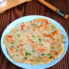 藕丝鲜虾饼