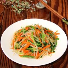 绿豆芽炒三丝
