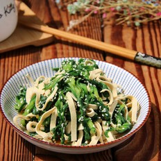蓬花菜拌豆皮