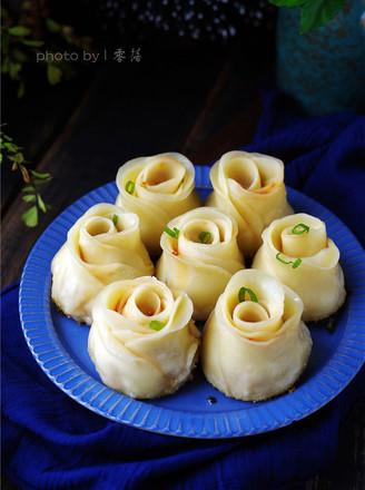 玫瑰煎饺的做法
