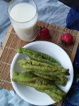 早餐--菠菜汁油条的做法