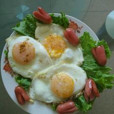 小火腿煎蛋
