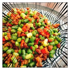 超下饭の蒜苔炒肉末