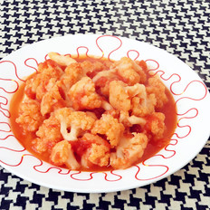 西红柿酱炒菜花