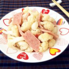 火腿炒菜花