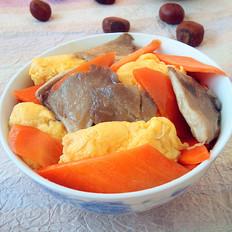 胡萝卜平菇炒鸡蛋