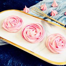 喜庆玫瑰花马林糖